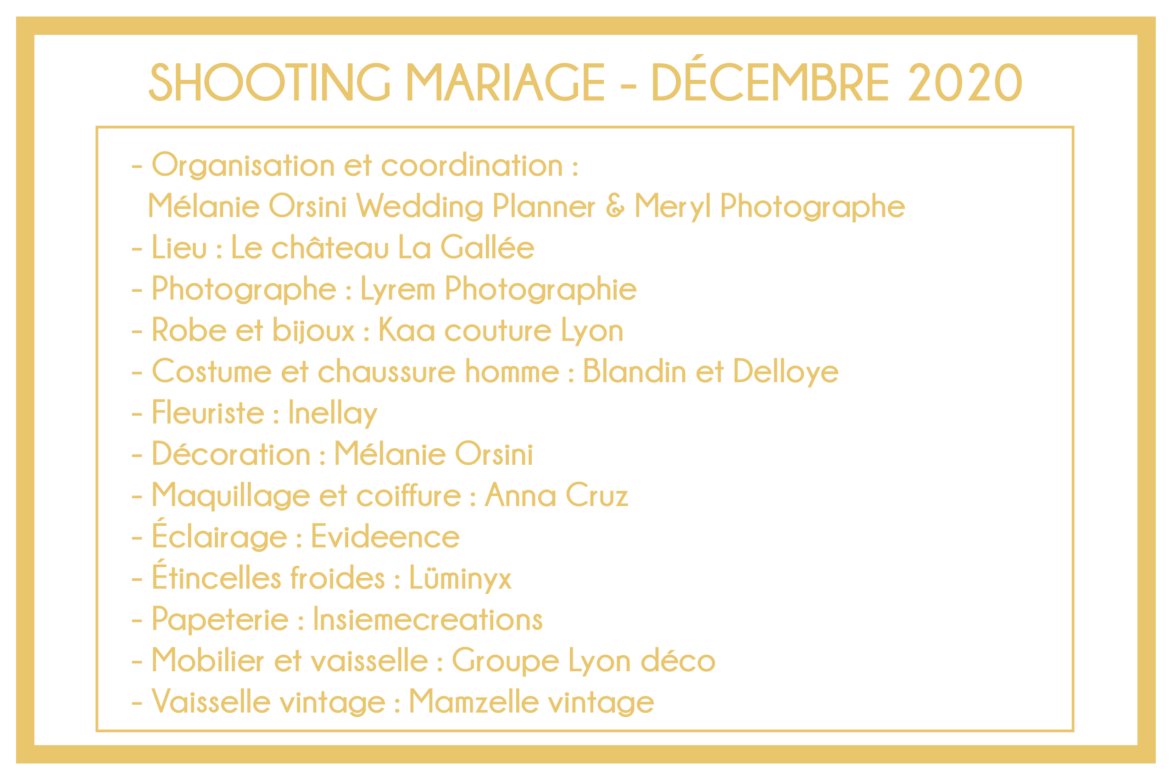 Prestataires shooting